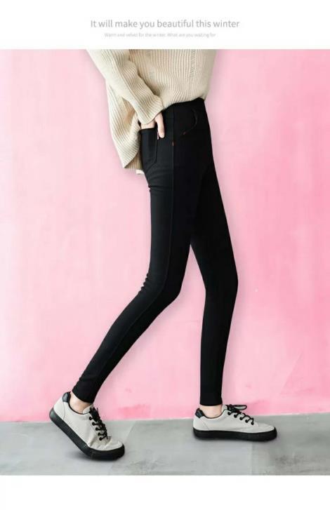 女士时尚休闲裤生产