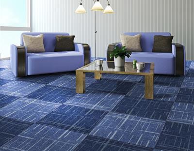 缤纷印花方块拼接地毯加工厂家