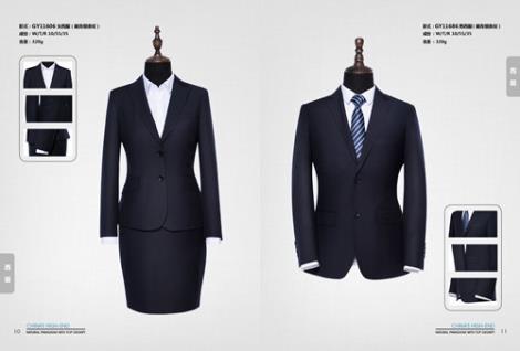 黑色西服职业装