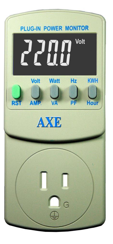 插座式8合1交流精密电源检测器AXE...